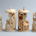 British Queen Victoria Ivory Chess set 19C