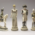 French Napoleon full figure Ivory Chess Set 18C-19C