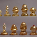Indian Muslim Rock Crystal Gilt Chess Set 18C