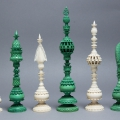 English Ivory Pepys Chess Set 19C