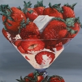 """Strawberry Sunday"" 34 x 34 inches oil on linen"