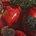 """""""Roxbury Reds"""" 22 x 48 inches. oil on linen"""