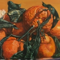 """Olympic Tangerines"" 22 x 48 inches oil on linen"