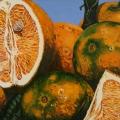 """Oranges Rhaina Elizabeth II"" 22 x 48 inches. oil on linen"