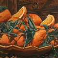 """Oranges Marrakesh"" 26 x 48 inches. oil on linen"