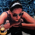 """Orangina"" 34 x 50 inches. oil on linen"