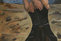 """""""Back against the Sea"""" 48 x 28 inches. oil on canvas"""