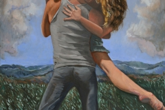 """""""X Duet"""" 48 x 24 inches. oil on linen"""