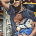 """Manhattan Madonna"" 36 x 24 inches. oil on linen"