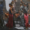 """Rehearsal at Chapura Studios"" I 34 x 48 inches. oil on linen"