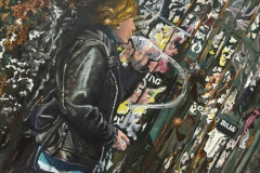 """Jackson Pollack Wall in Soho"" 34x50 inches. oil on linen"